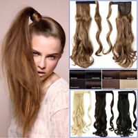 Thick Hair Ponytail Clip In As Real Human Hair Extension Wrap Around Pony Tail J