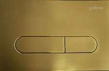 Gallaria Enero Golden Mechanical Push Plate Buttons Suite Indiana Inwall Cistern