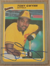 Tony Gwynn Signed 1985 Fleer Card #34 PSA DNA Padres HOF