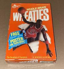 1989 Wheaties Box (Michael Jordan) New/Sealed w/Cereal +FREE Poster Part A Bulls