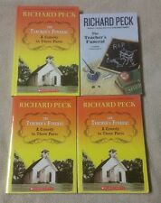 Lot 4 THE TEACHER'S FUNERAL Chapter Books RICHARD PECK Guided Reading Scholastic