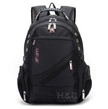 "Mens Travel Rucksack Notebook 17"" Laptop Backpack Hiking School Bag"