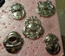 US ARMY,DIVERS BADGE SET,  STAY BRIGHT, ANODIZED, METAL, FULL SIZE, SET OF 5,