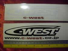 2 C-WEST di-cut sticker decals, JDM aftermarket racing sponsor
