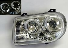 Clear Projector Halo Angel Eye Headlights Chrysler 300C 05-07