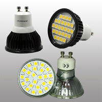 GU10 LED BULB 4.5W SPOT LAMPS  24 x 5050 SMD WARM WHITE DAY WHITE = 50W HALOGEN