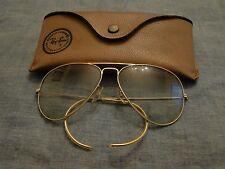 Vintage Ray Ban B & L Aviator Bausch & Lomb Sunglasses USA 60s