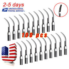 100 NEW Dental Scaling Tips GD2 Fit for DTE Satelec NSK Series Scaler Piezo KWsZ