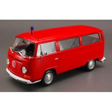 VW BUS T2 1972 FEUERWEHR 1:24 Welly Pompieri Die Cast Modellino