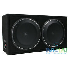 "JL AUDIO CS212LG-TW1 DUAL 12"" LOADED PowerWedge SEALED BOX w/ 12TW1-4 SUBWOOFERS"