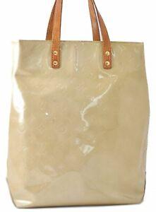 Authentic Louis Vuitton Vernis Reade MM Hand Bag Yellow LV D1488