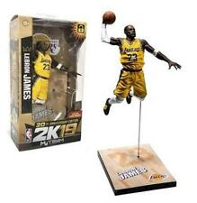 "NBA Basketball 2K19 20th Anniversary Edition Lebron James LA Lakers 7"" Figure 22"