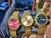 Men/'s Hip Hop SD Supply /&Demand Rose Gold Tone Custom Rapper Pendant Chain