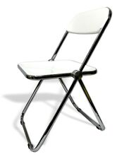 Chair Plia Anonima Castelli Design Giancarlo Piretti Rare Version Total White