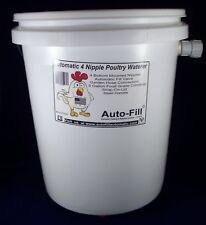 Auto-Fill© Automatic Hanging Chicken Waterer  5 Gal Bucket 4 Nipple Garden Hose