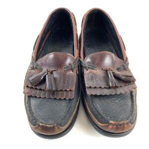 Sperry Top-Sider Tremont Mens 9.5 Kilt Tassel Loafers Black Brown Shoes 0717132