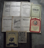 Lot of 10 1900s to 1930s Era Sheet Music Booklets