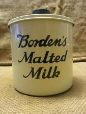 Vintage Borden's Malted Milk Container Antique Old Dairy Candy Malt Shake 10077