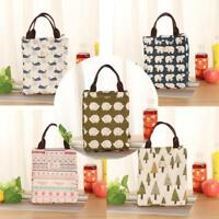 1PC Unisex Lovely Insulation Package Portable Waterproof Canvas Lunch Bag