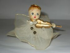 Vintage Delta Novelty 40'S Christmas Compo Head Tulle Dress Google Eyed Angel