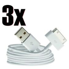 3X Genuine Charging Cable Charger Lead for Apple iPhone 4,4S,3GS,iPod,iPad2&1