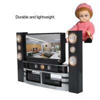 Dolls House Miniature DollsHouse Accessories Mini LCD TV Child Kids Toy ❤ut