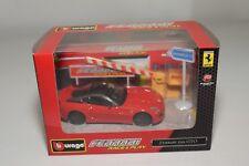 V 1:43 BBURAGO BURAGO RACE&PLAY FERRARI 599GTO 599 GTO RED DIORAMA MIB