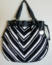 Juicy Couture White/Navy Striped MD Free Style Terry Satchel Bag #YHRUS938 NWT