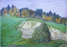 Doppelbild-Landschaft bei Tölz & An der Isar Öl 1924 Richard Pietzsch 1872-1960