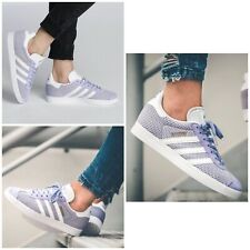 NEW adidas Originals Women Size 6 Gazelle Lace Up Sneakers Lilac Purple $125