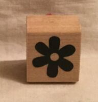 JRL Designs Solid Flower Wood Rubber Stamp B393