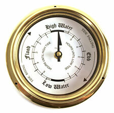 Tabic Classic Tide Clock Stunning Brass Accurate Times Ideal For Sea Shore Homes