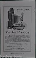 1914 KODAK advertisement, Kodak 1A, 3, 3A folding cameras