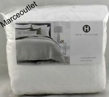 Hotel Collection Locked Geo FULL / QUEEN Duvet Cover White