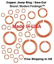 12 GA COPPER  JUMP RING 16 MM I/D (pkg. Of 18 -1 Oz) Solid Bright Copper