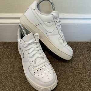 Nike Air Force 1 White Leather Trainers Ladies Womens UK Size 4