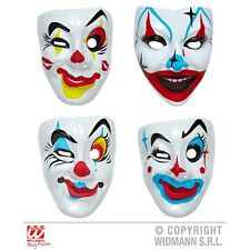 Adult's Assorted Pvc Clown Masks - Mask 1 4 Styles Accessory Circus Funfair