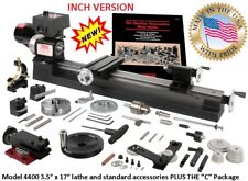 """SHERLINE 4400-C 3.5"""" X 17"""" LATHE (INCH) + the """"C"""" Package (METRIC SEE PN 4410C)"""