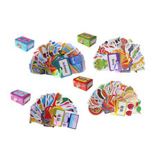 30 Pcs Toddlers Playing Flashcards Key Ring Holder Educational Pocket Cards
