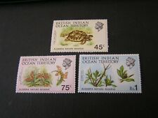 BRITISH INDIAN OCEAN TERRITORY, SCO. #39-41(3)  ALDABRA NATURE ISSUE MVLH