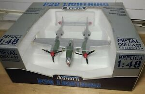 Armour Collection 1:48 P-38 Lightning USAAF Marge Art# 98114 Metal Diecast