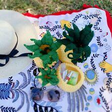 Handmade Crochet Pineapple cross body bag handbag