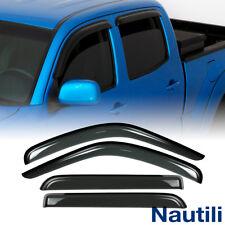 4pcs For 16-18 Toyota Tacoma Double/Crew Cab Sun Rain Guard Vent Window Visors