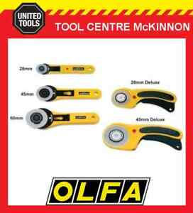 OLFA 28mm, 45mm & 60mm ROTARY CUTTER SEWING & QUILTING CRAFT CUTTERS