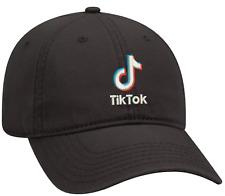 Black Dad cap Customized with (TIKTOK) embroidery design.