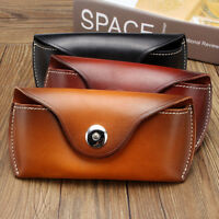 Handmade Cow Leather Sunglasses Glasses Case Causal Spectacles Eye Wear Bag Box