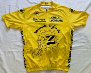 Greg LeMond signed 1990 Tour de France yellow cycling jersey Z-Tomasso