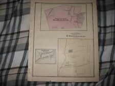 Antique 1875 Bethel Township Lebanon County Pennsylvania Map Oberholtzer Family