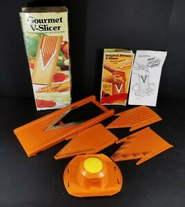 Vintage V Borner The Ultimate Food Processor Mandoline Food Slicer Orange Boxed