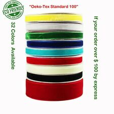 "Velvet Ribbon Eco-friendly 1/4"" 3/8"" 1"" Inch  32 Colors"